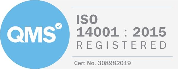 Logo QMS - ISO 14001 : 2015 Registered
