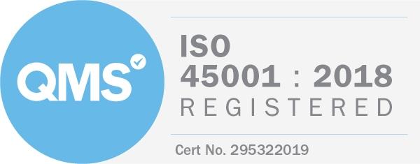 Logo QMS - ISO 45001 : 2018 Registered