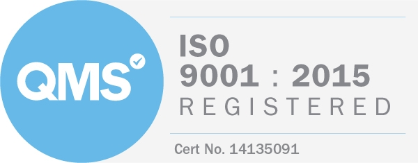 Logo QMS - ISO 9001 : 2015 Registered