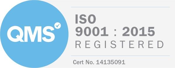 Logo QMS - ISO 9001 : 2015 Registered